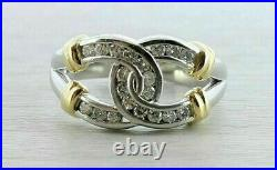 1.30CT White Round Shape Cubic Zirconia Horse Shoe Ring 925 Sterling Silver