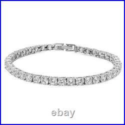 14.50 Ct Sterling Silver. 925 CZ Cubic Zirconia Women's Link Tennis Bracelet