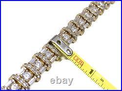 14K Yellow Gold Over Sterling CZ Cubic Zirconia Tennis Bracelet