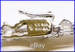 18 925 Sterling Silver Round Cubic Zirconia CZ Riviera Tennis Necklace