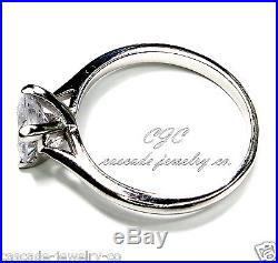 1ct Princess Engagement / Wedding Ring SOLID Sterling Silver Cubic Zirconia CZ