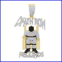 2.75 Ct Cubic Zirconia Hip Hop Deathrow Records Pendant 14K Yellow Gold Over