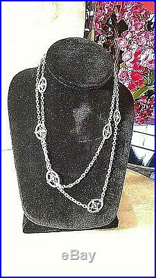 34' In Sterling Silver Cubic Zirconia Link Necklace By Judith Ripka
