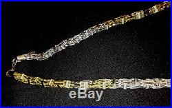 36 0.6mm 100g Sterling Silver & 18k gold plated Cage Chain with cubic zirconia