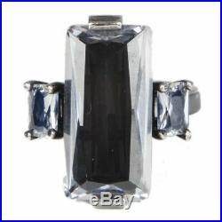 56305 auth BOTTEGA VENETA sterling silver CUBIC ZIRCONIA Ring 7
