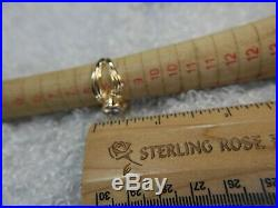 7mm rd Cubic Zirconia Vermeil 0.925 Sterling Silver cocktail estate Ring size 9