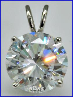 8 ct Ideal Cut Original Vintage Russian Cubic Zirconia Sterling Silver