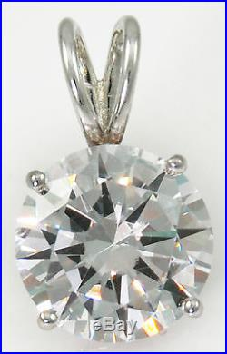8 ct Round Pendant Bling Bling Original Vintage Russian Cubic Zirconia SS