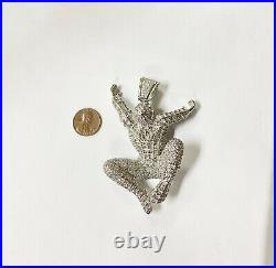 925 Silver Spider-Man Pendant with Cubic Zirconia HEAVY