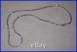 925 Sterling Silver 18 Round CZ Cubic Zirconia Eternity Tennis Necklace