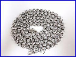 925 Sterling Silver 20ct. Cubic Zirconia necklace 33 inch