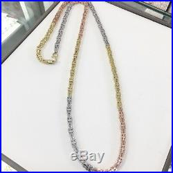 925 Sterling Silver 3 Tone CAGE Chain Gents FULL Cubic Zirconia Stones
