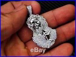 925 Sterling Silver 925 Fancy C. Z Cubics Zirconia Jesus Head Pendant/Charm
