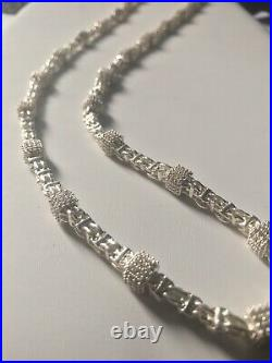 925 Sterling Silver CAGE CHAIN Gents Mens CZ Cubic Zirconia Stones New Style