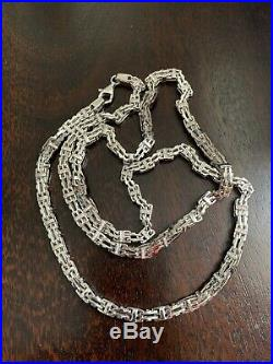 925 Sterling Silver CAGE Chain Gents FULL Cubic Zirconia Stones