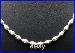 925 Sterling Silver Cubic Zircon Barrel Link 35 Unisex Bling Chain 1612