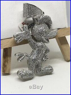 925 Sterling Silver Cubic Zirconia CZ DAFFY DUCK PENDANT Brand New