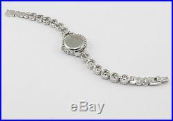 925 Sterling Silver Cubic Zirconia Luxury TURKISH Handmade Lady Watch 7.25 inch
