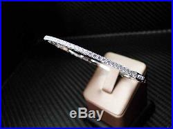 925 Sterling Silver Cubic Zirconia Round Cut Micro Pave Womens Bangle/bracelet