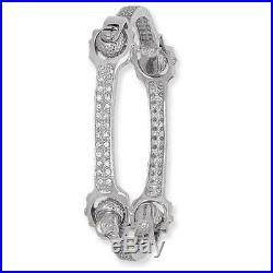 925 Sterling Silver Cubic Zirconia Spanner Design 25g Ladies Bangle Gift Boxed