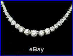 925 Sterling Silver Cubic Zirconia Tennis Necklace Chain 18