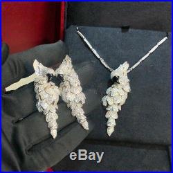 925 Sterling Silver Jewelry For Women Parrots Bird Earrings Big Cubic Zirconia