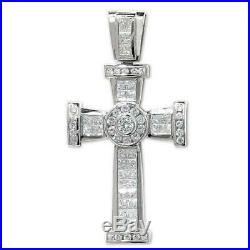 925 Sterling Silver Large 72mm Cubic Zirconia 27g Holy Cross Pendant Gift Boxed