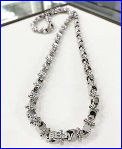 925 Sterling Silver Lego Design Chain Gents With Cubic Zirconia Stones