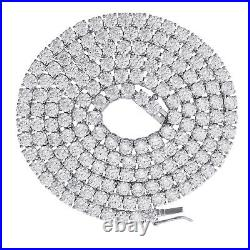 925 Sterling Silver Mens Womens Unisex 2.5mm 22 Cubic Zirconia CZ Tennis Chain