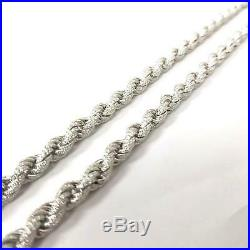 925 Sterling Silver NEW Cubic Zirconia Rope Chain 106.5g 7.2mm 32 Inches