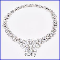 925 Sterling Silver Qvc Diamonique Cubic Zirconia Necklace 17 Lot9