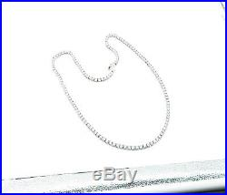 925 Sterling Silver Sparkling Round Cut Cubic Zirconia Tennis Necklace N3160
