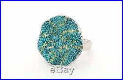 925 Sterling Silver Topaz Colored Cubic Zirconia Cz Large Big Round Ladies Ring