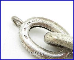 925 Sterling Silver Vintage Cubic Zirconia Oval Link Chain Bracelet B5276