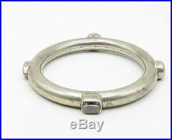 925 Sterling Silver Vintage Multi-Shape Cubic Zirconia Bangle Bracelet B5272