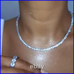 925 Sterling silver, TENNIS CHAIN, 17 Inch, 5A Cubic Zirconia