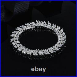 APM MONACO 925 Sterling Silver w AAA Cubic Zirconias Bracelet Bangle 19cm