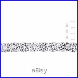 Amour 72 3/8 CT TGW White Cubic Zirconia Tennis Bracelet in Sterling Silver