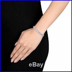 Amour Sterling Silver 18ct TGW Multi-Cut Cubic Zirconia Tennis Bracelet