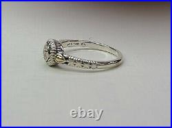 Angela By John Hardy 925 Silver Small Round Paved Cubic Zirconia Ring 10.25