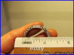 Angela by John Hardy Sterling Silver White CZ Cubic Zirconia Hoop Earring 10.4g