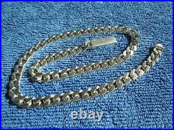 Authentic GUCCI Sterling Silver Cubic Link Mens Chain