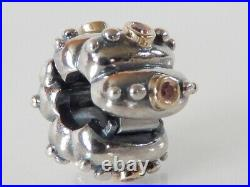 Authentic Pandora Abstract Fusion Clip Silver & Gold 790853CZS Brand Newretired