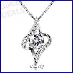 B. Catcher Women Necklace 925 Sterling Silver Necklace Cubic Zirconia Pendant, 18