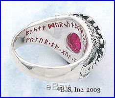 BADALI Hobbit Dwarven Ring Of Power Silver Amethyst LOTR Tolkien IN STOCK