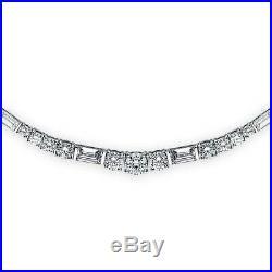 BERRICLE 925 Silver Cubic Zirconia CZ Vintage Style Art Deco Tennis Necklace