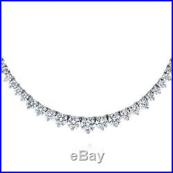 BERRICLE Sterling Silver Cubic Zirconia CZ Graduated Wedding Tennis Necklace