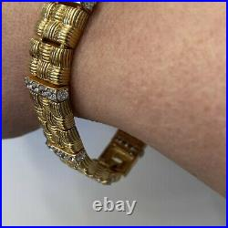 BOLD! Bella Luce White Cubic Zirconia Gold Over SS Bracelet EUC