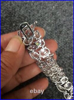 Beautiful CWE Charles Winston sterling Silver 925 cubic zirconia bracelet