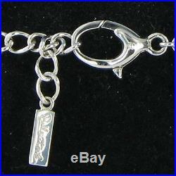 Belle Etoile Fiori Bracelet 925 Silver Black Rubber Cubic Zirconia New $495